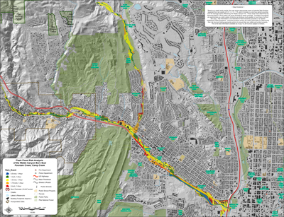 Overview of Fountain and Camp Creek Final Flash Flood Risk Analysis Map (July 24, 2013)