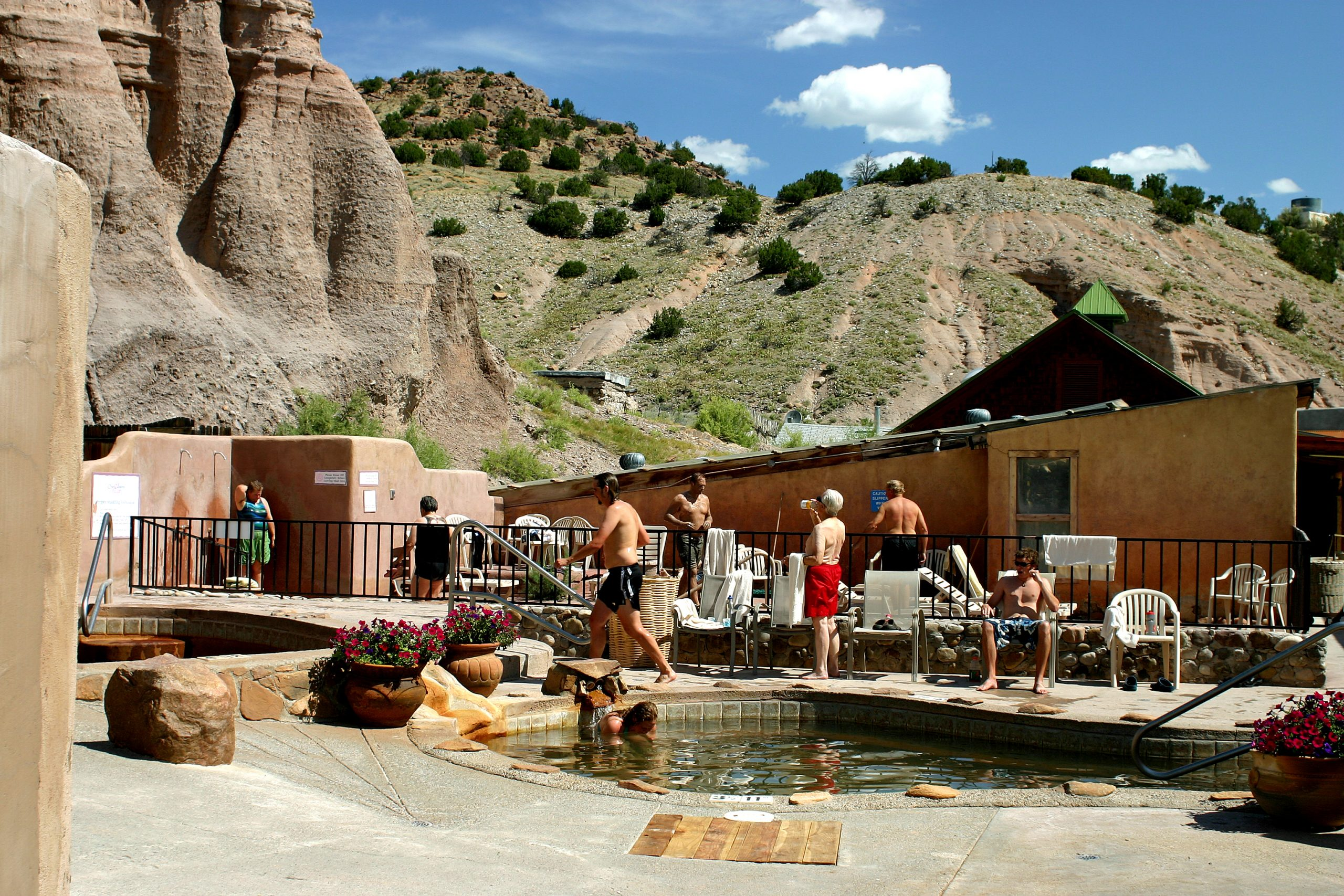 Hot springs pool at Ojo Caliente, NM