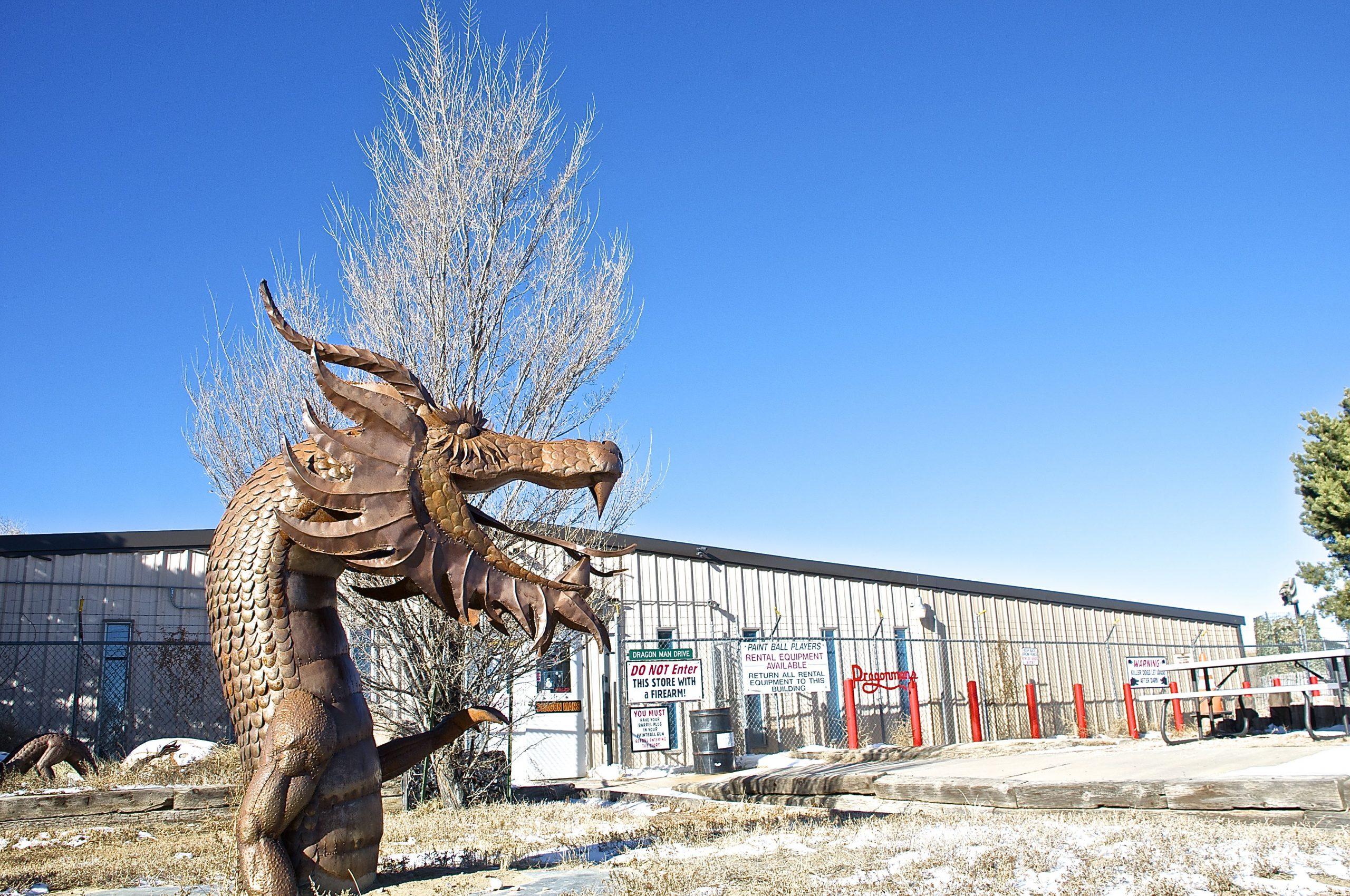 Outside Dragon Arms, Dragonman's Gun Shop