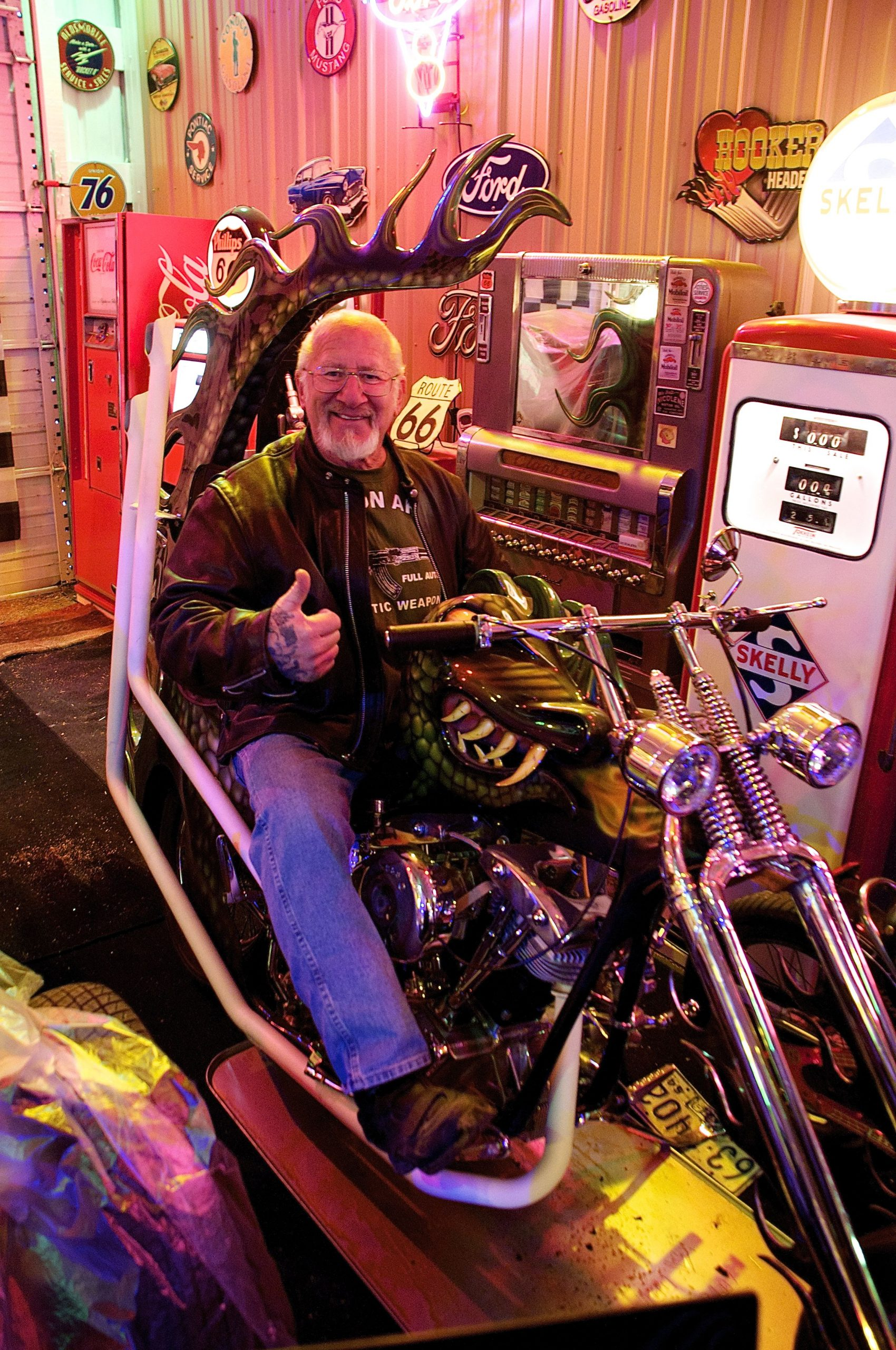 Mel on his original 1967 Dragonman motorcycle
