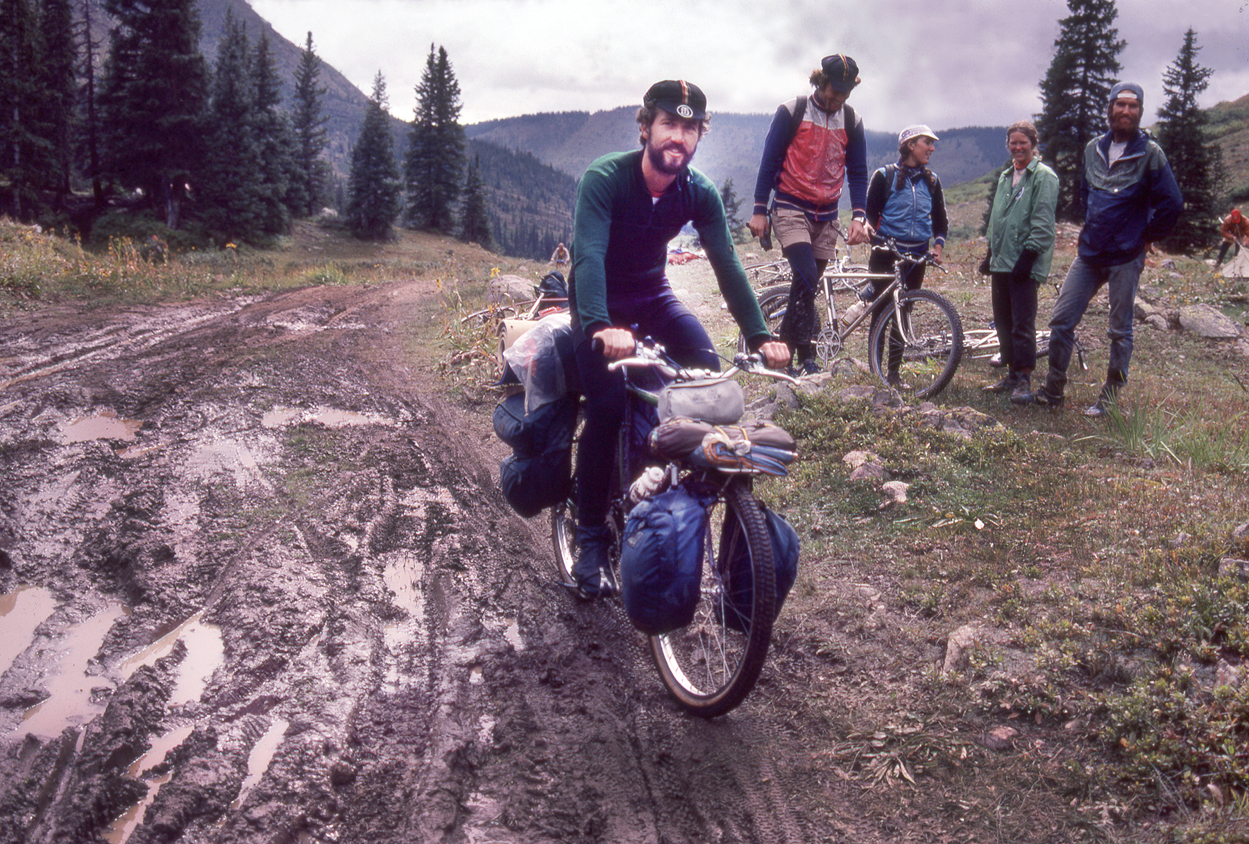 Mike Rust on Pearl Pass ca. 1981