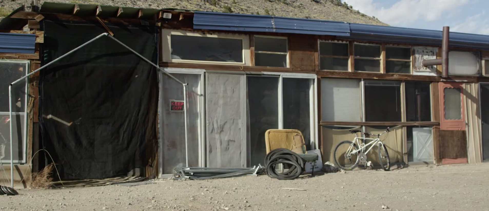 Mike Rust's off-the-grid home in Saguache County (looking Northwest)