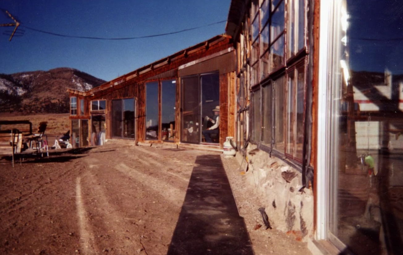 Mike Rust's home in Saguache County (looking West)