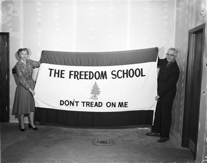 """Freedom School Flag"" by Stan Payne, May 23, 1959."