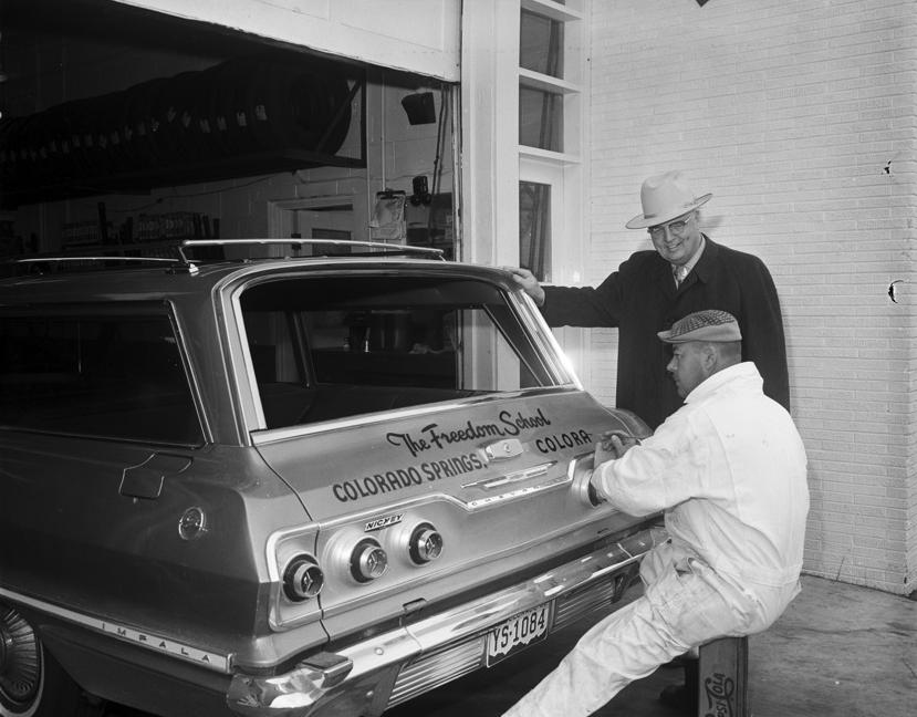 """""""Freedom School Car"""" by Stan Payne, 1963."""