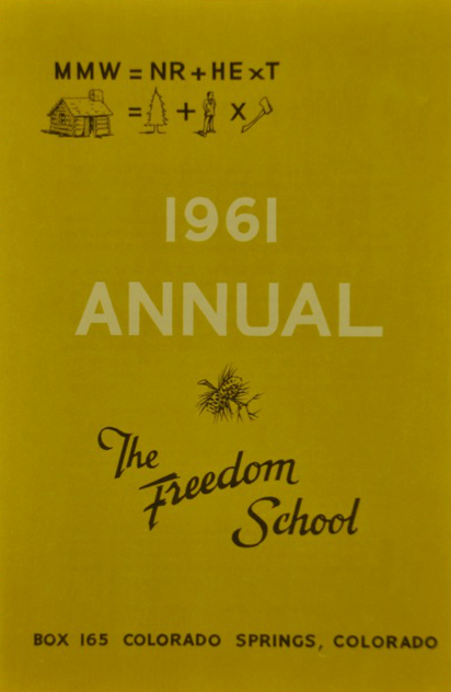 Cover of the Freedom School's 1961 Annual