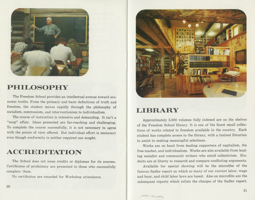 Pages from the Freedom School Prospectus, ca. 1962-1963