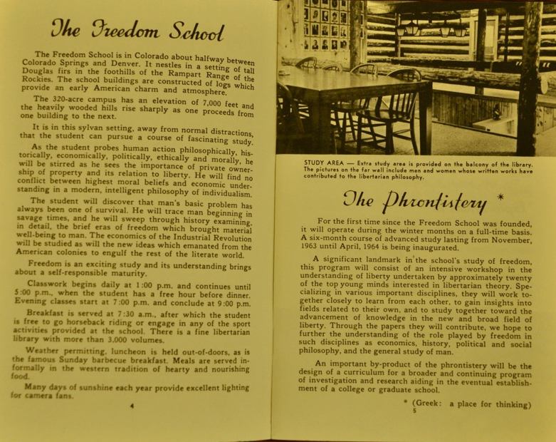Pages from the Freedom School Prospectus ca. 1963-1964