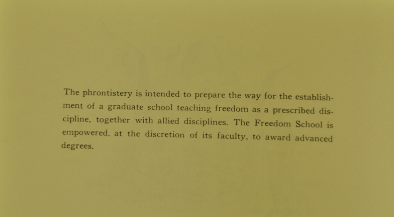 Copy from a Freedom School Promotional Brochure