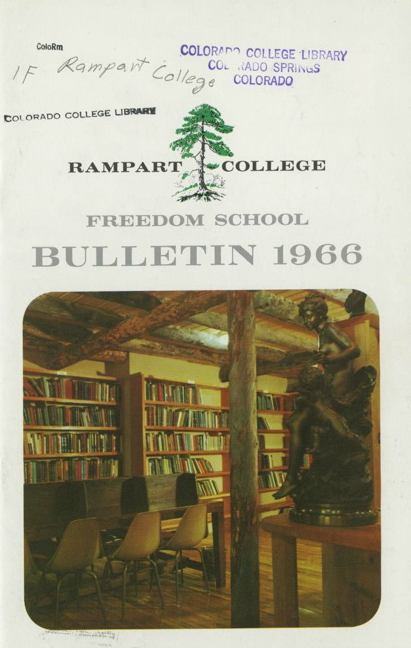 Cover of the Rampart College/Freedom School Bulletin, 1966