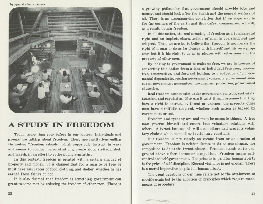 Pages from The Freedom School Bulletin, ca. 1962-63
