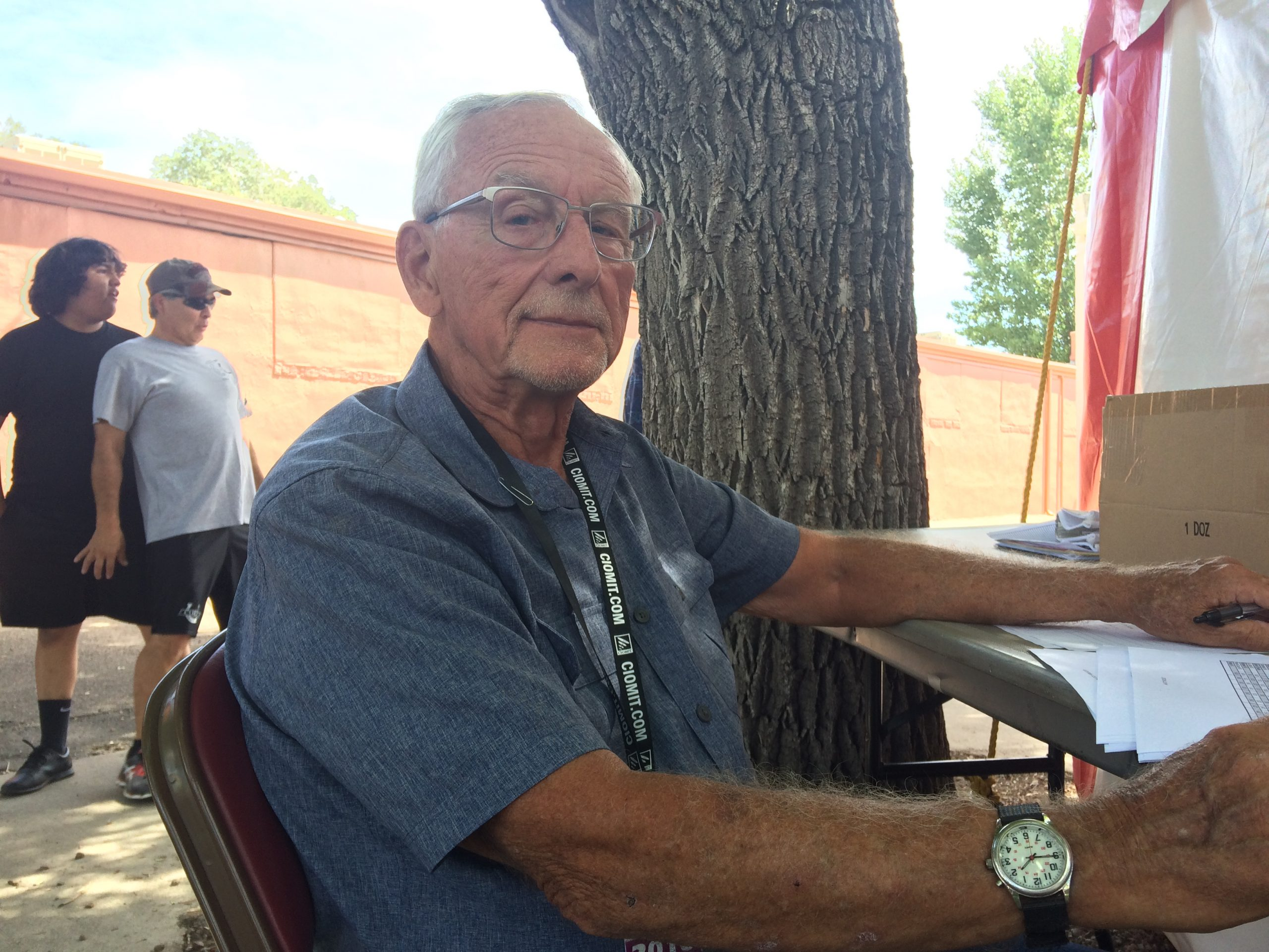 Bill Thomas has organized the band competition for 15 years.