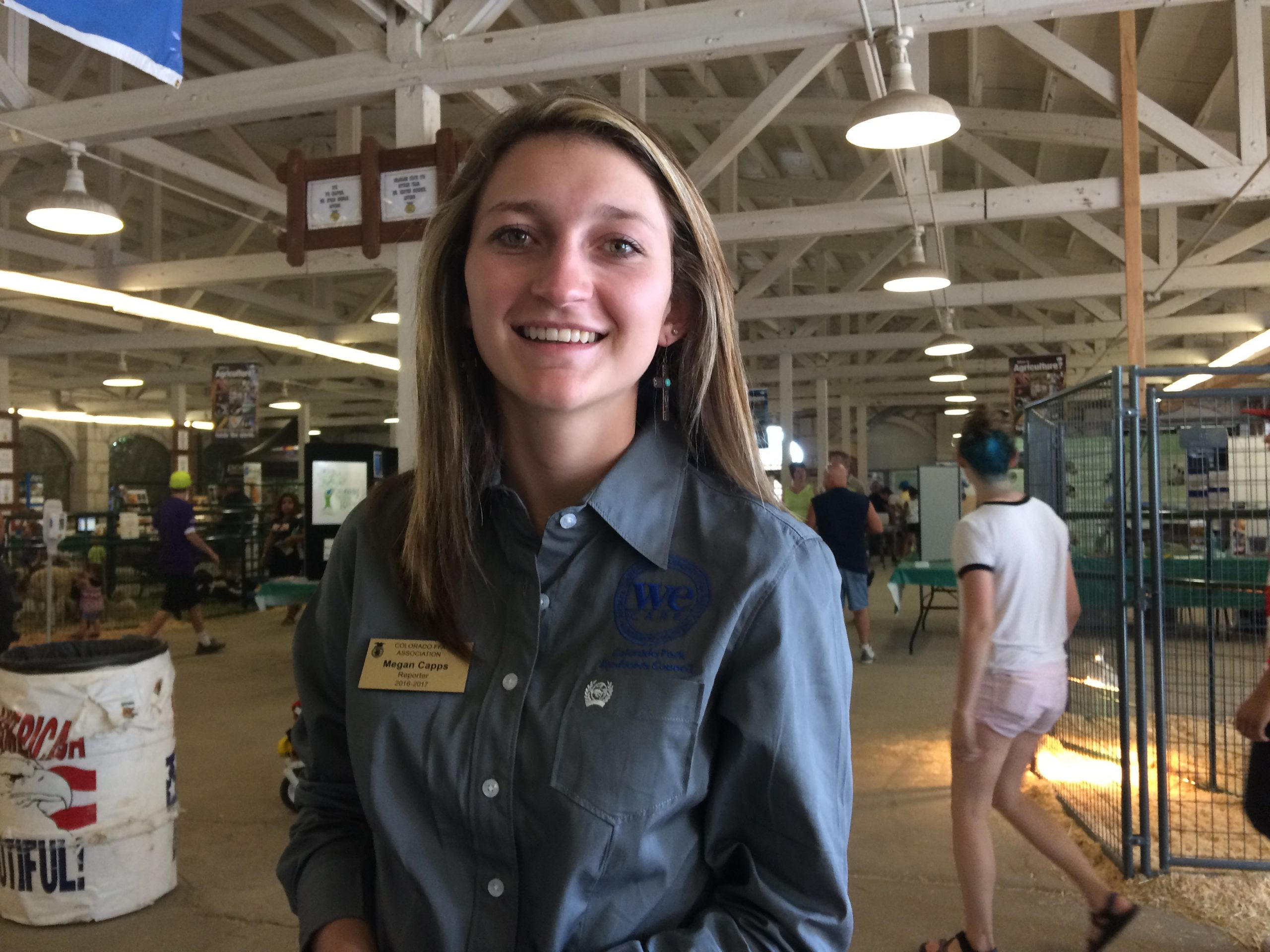 Megan Capps, FFA officer, helped to organize the Petting Zoo.