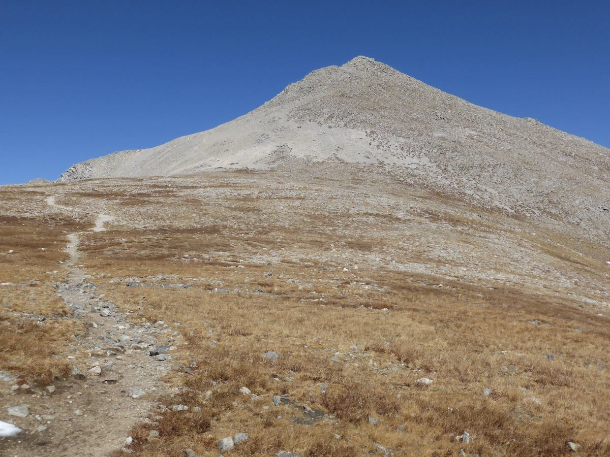 The peak of Mount Shavano, currently under mining claim restrictions