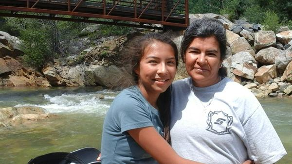 This mother and daughter are campers  from a pilot family campout this summer led by Full Circle of Lake County.
