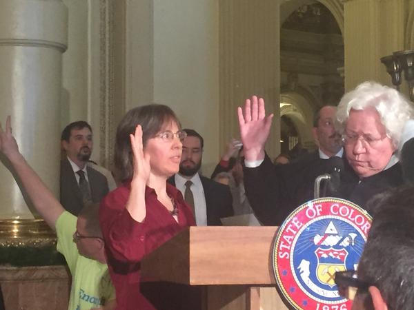A new elector is sworn in to replace Baca.