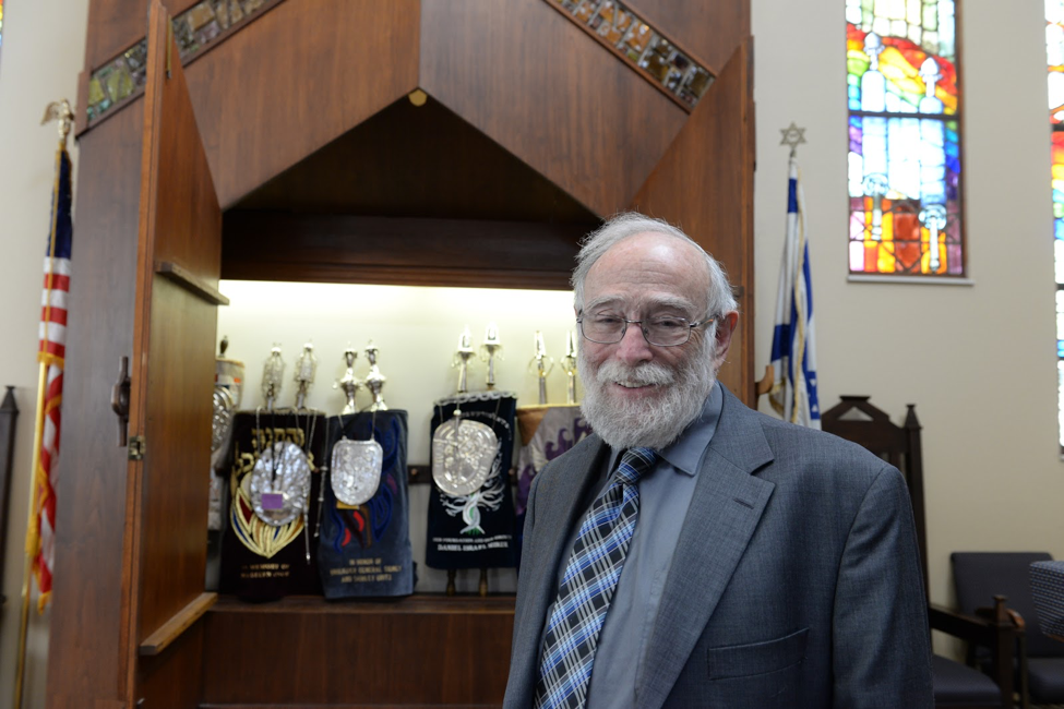 Dr. Perry Bach in Temple Shalom in Colorado Springs.