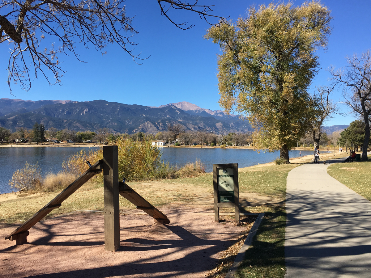 Fitness stations along the pathway circling Prospect Lake in Memorial Park are among the amenities in line for improvements, thanks to a near $1 million grant.