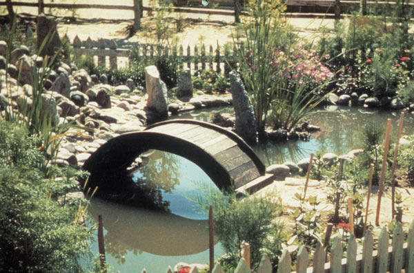 Residents planted gardens and built koi ponds outside the barracks.