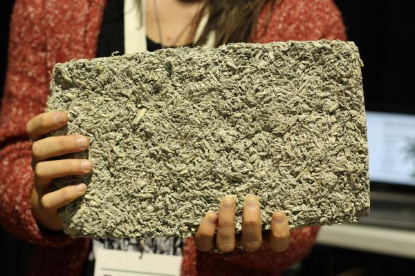 "Left Hand Hemp is one of several companies producing building materials like ""hempcrete"" (pictured)."