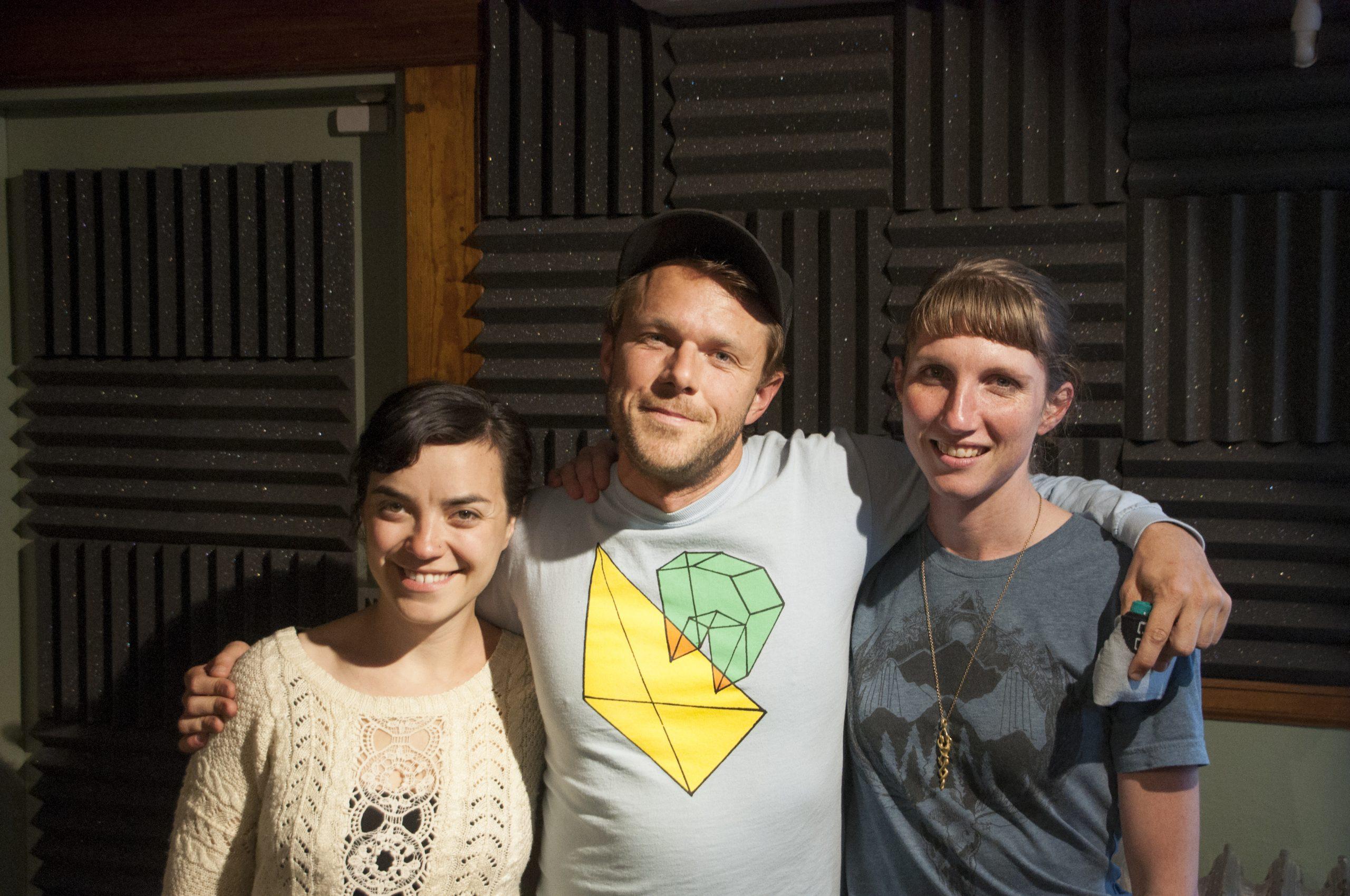 (left to right) Aviva Lipkowitz, Josiah Johnson, and Chelsea Coleman in-studio at 91.5 KRCC