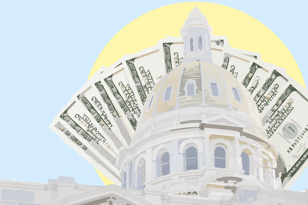 Wealthy candidates giving to themselves have shattered giving records in the Colorado governor's race