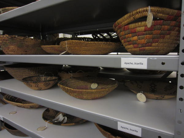 In 2019, representatives from Apache nations will review artifacts like these baskets at the University of Colorado Museum of Natural History in Boulder, Colo.