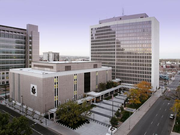 The Byron G. Rogers Federal Building and U.S. Courthouse located in Denver, where immigration cases are heard.