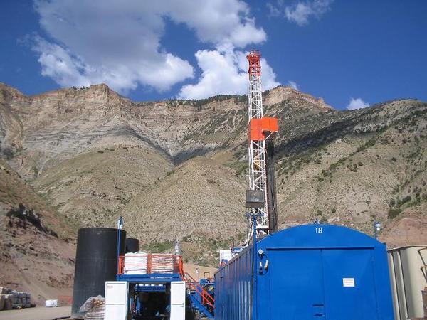 A drill rig.