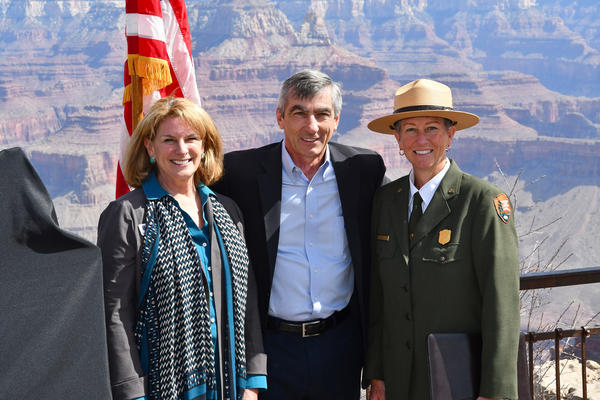 Chris Lenhertz (right) has been reinstated as the Superintendent of Grand Canyon National Park.