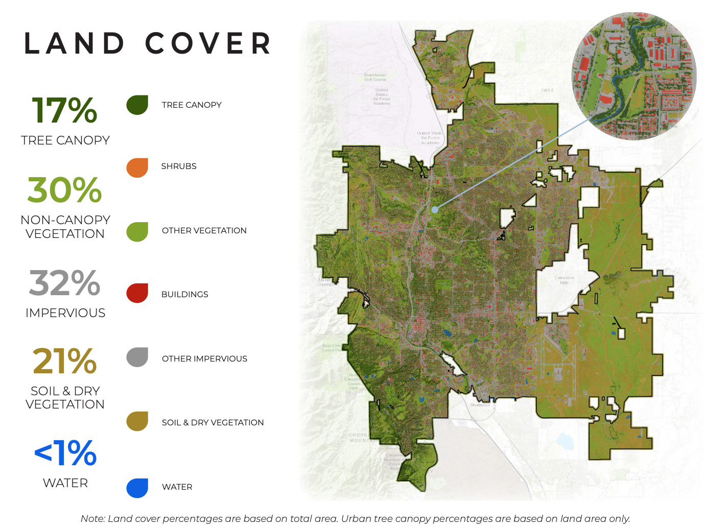 A graphic from the Tree Canopy Assessment Report