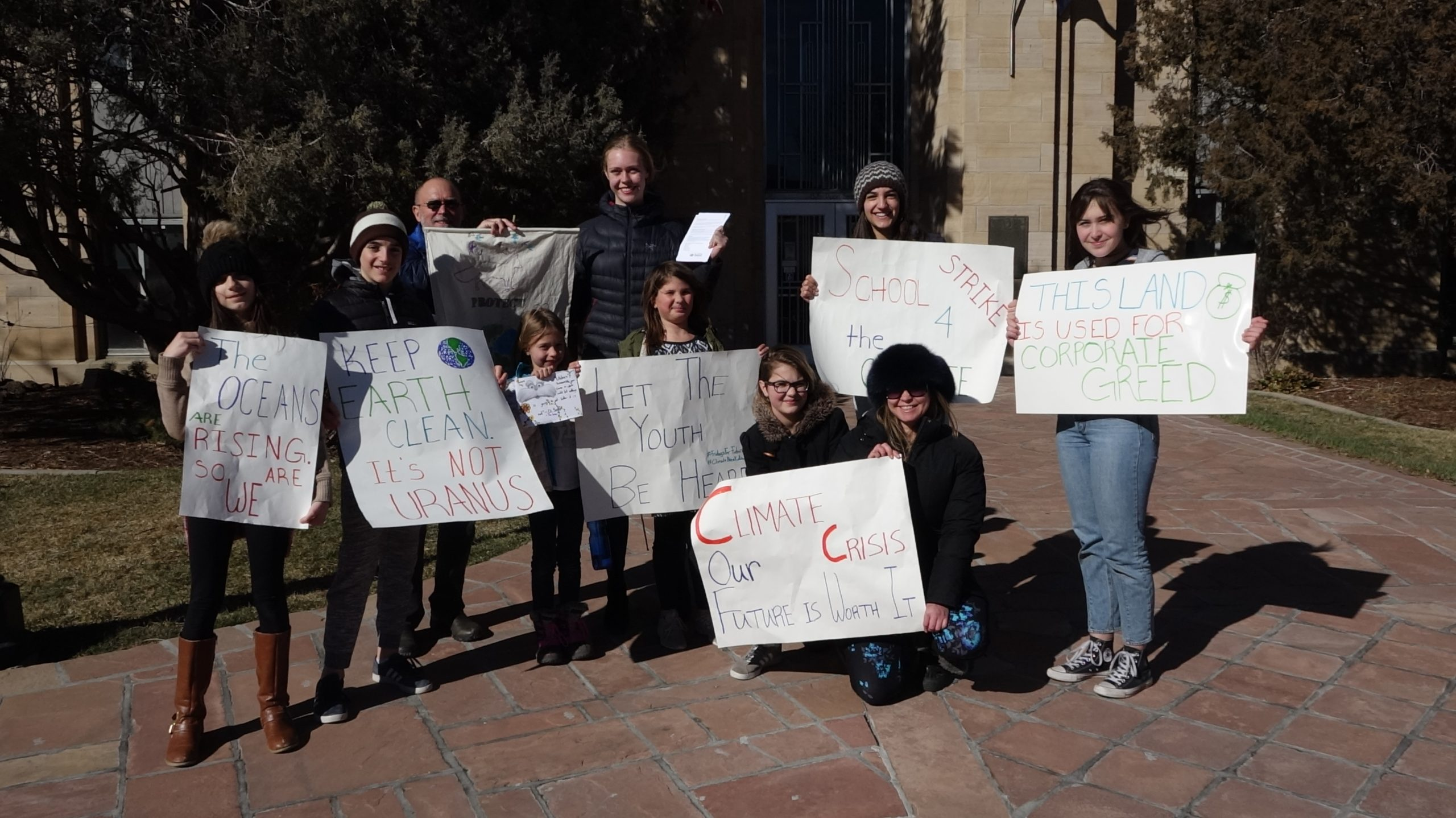 Youth activists from Earth Guardians in Boulder, Colorado