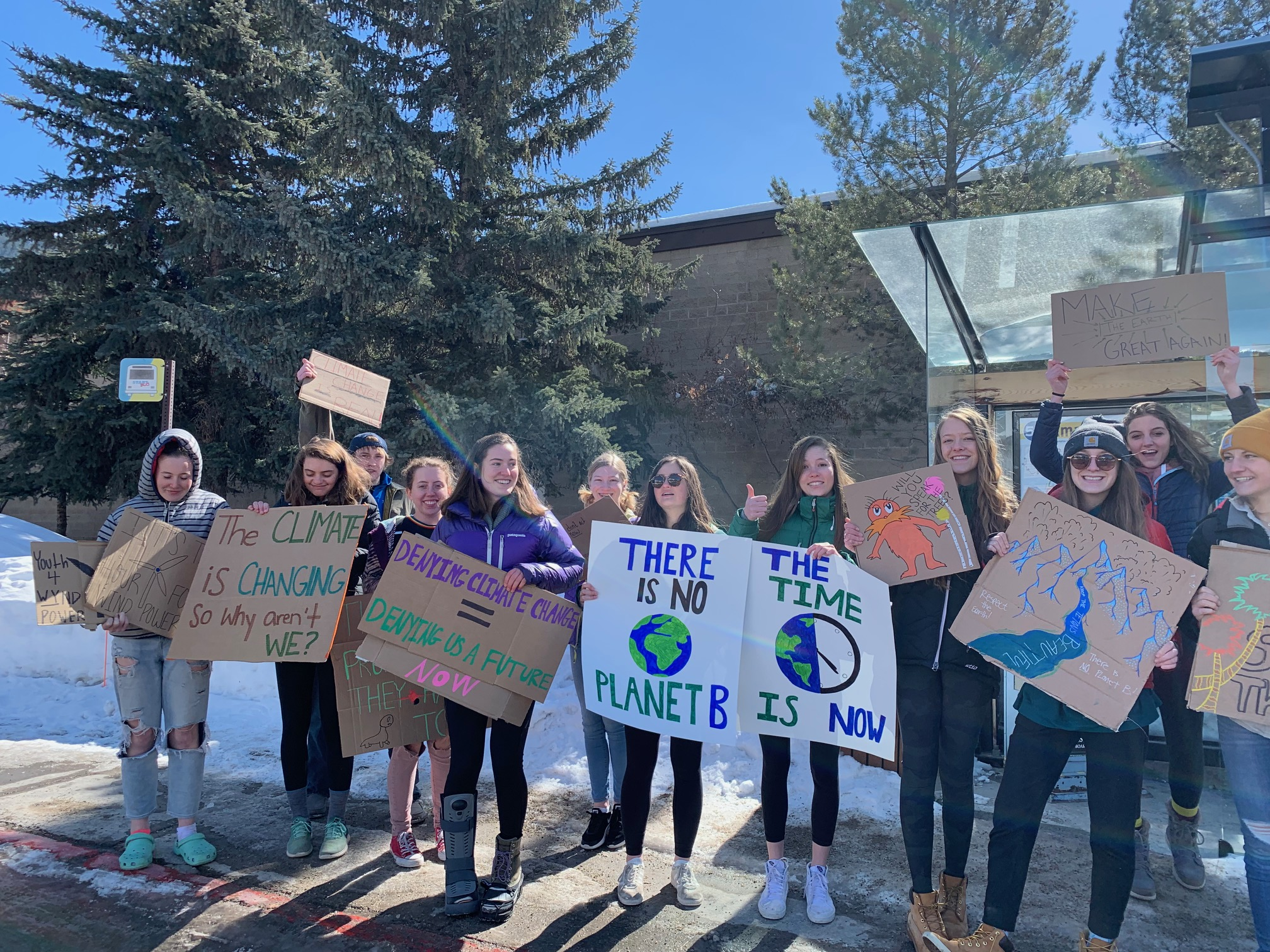 Youth strikers in Jackson Hole, Wyoming