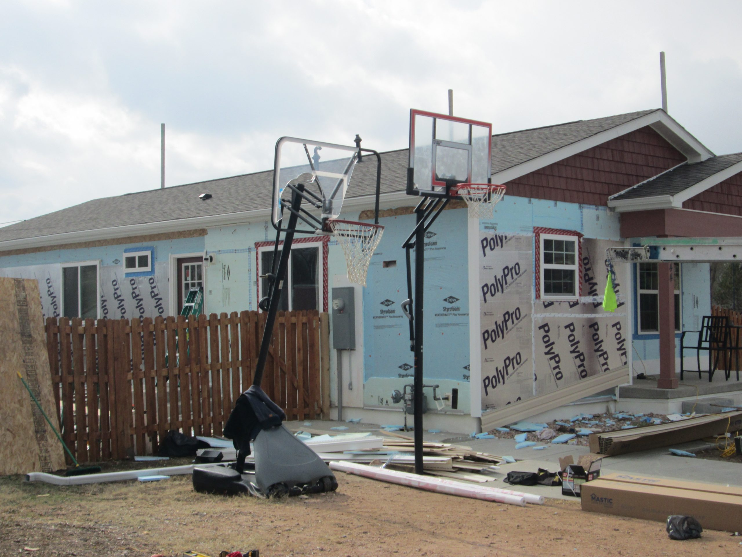 Habitat in El Paso County also has a repair program to assist existing homeowners with various projects. This particular house received hail damage in 2018.