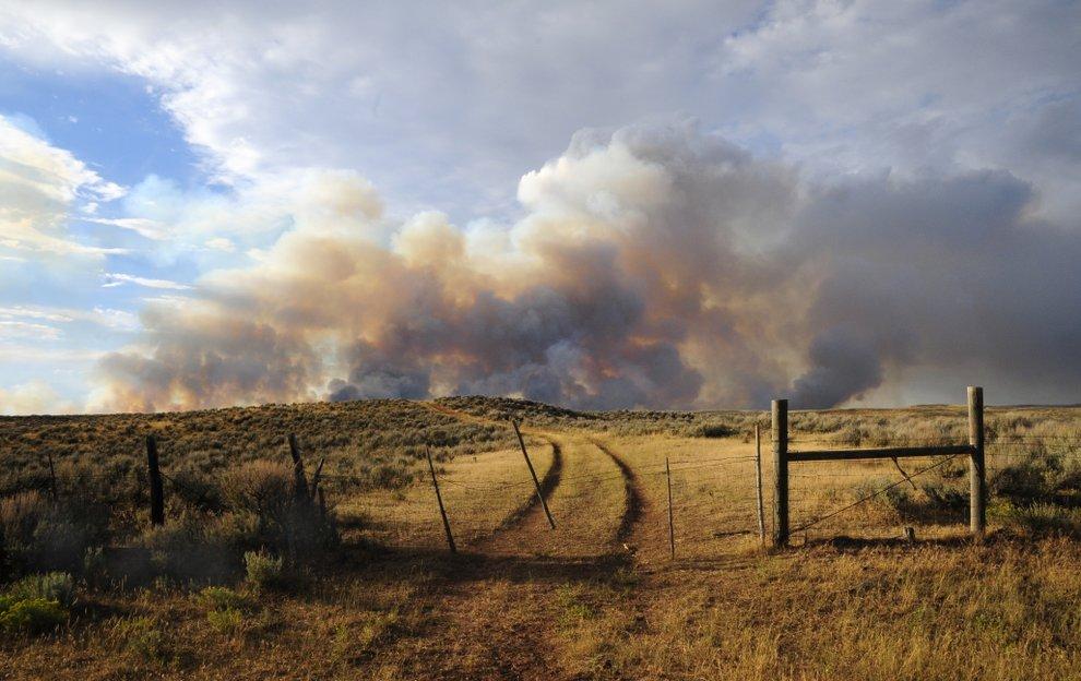 Photo: Alkali fire