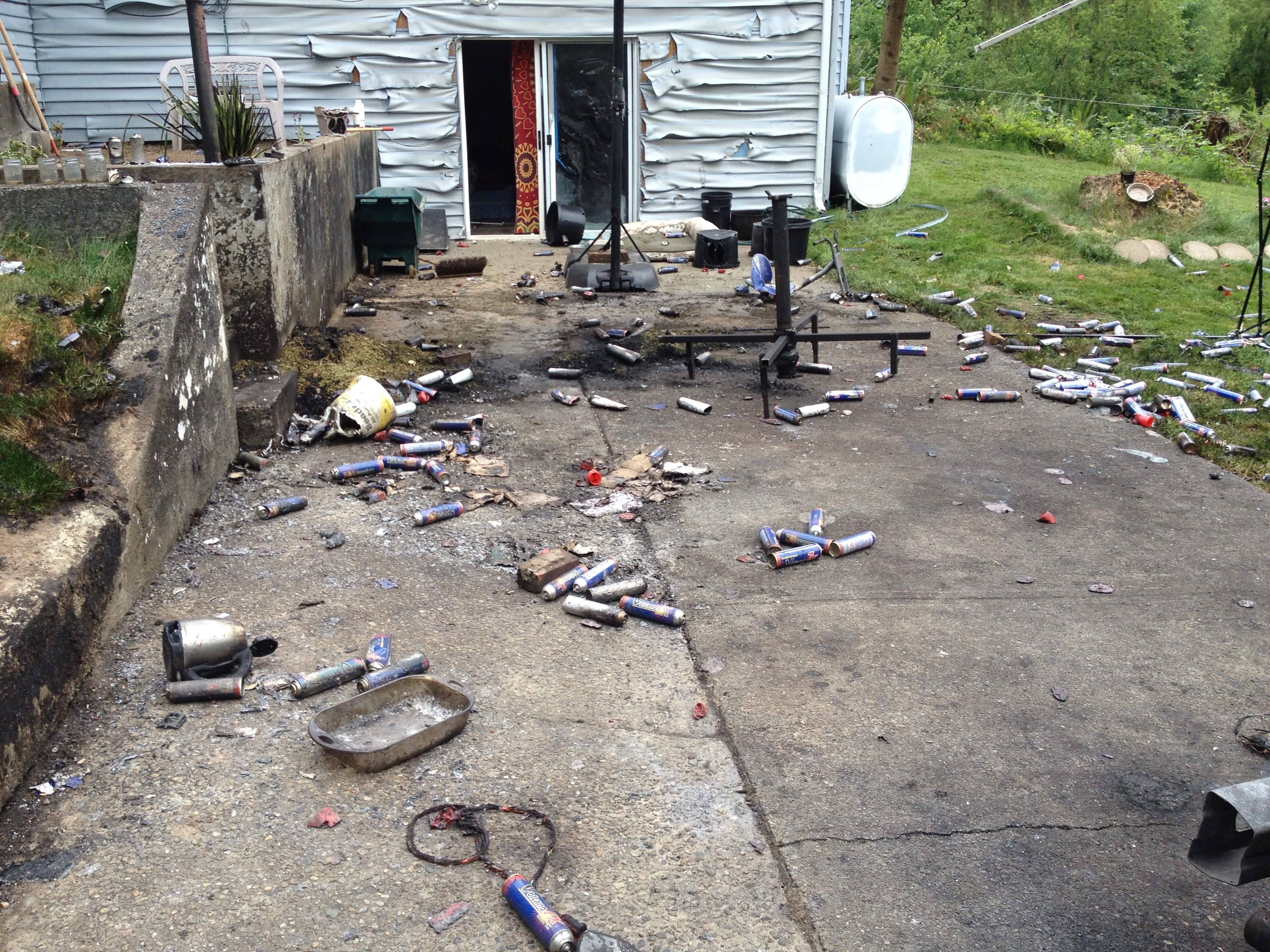 Photo: Hash oil explosion (AP Photo)