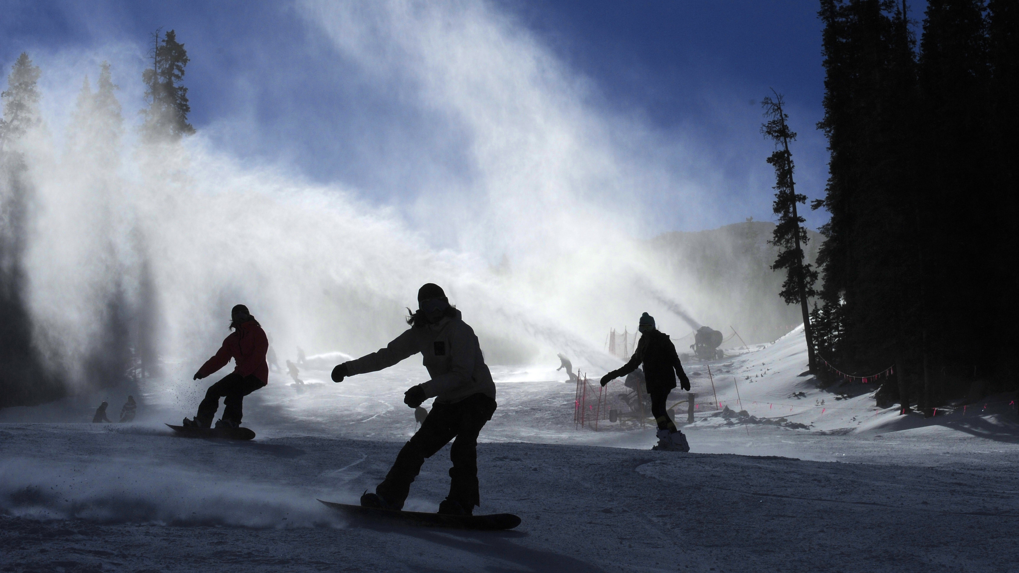 Photo: Snowboarders at A-Basin