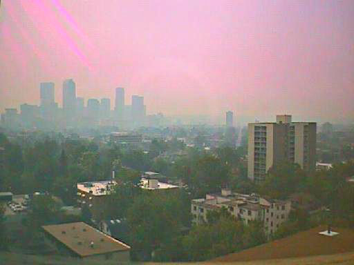 <p>A 2013 photo of pollution over Denver.</p>