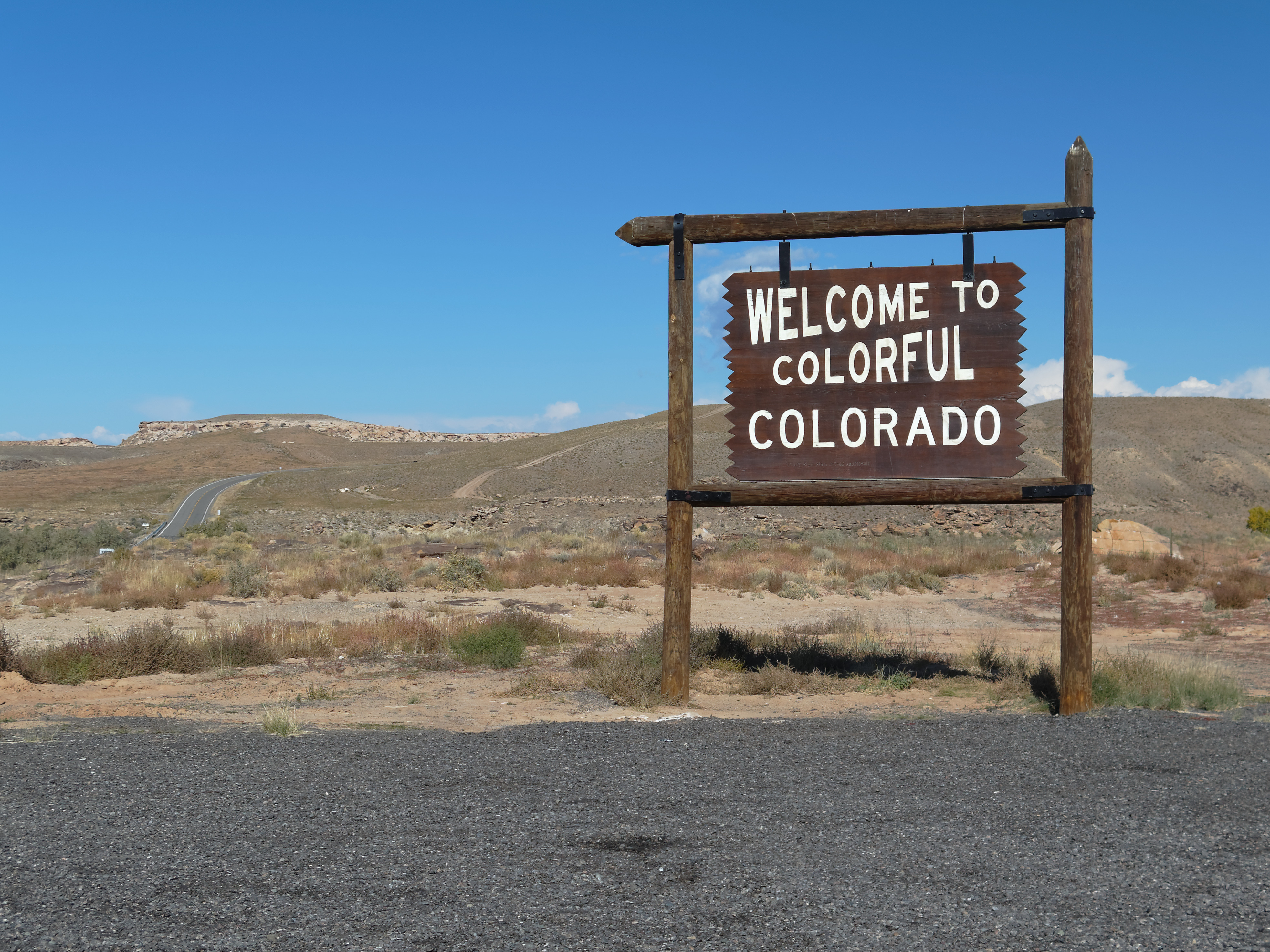"""<p>A sign welcomes travelers to Colorado near Montezuma in the southwestern part of the state. (Photo: Courtesy Flickr user <a href=""""https://www.flickr.com/photos/zruda/12198484075/"""">Zruda</a>/Creative Commons)</p>"""