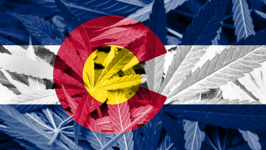 Photo: Colorado flag marijuana (iStock)