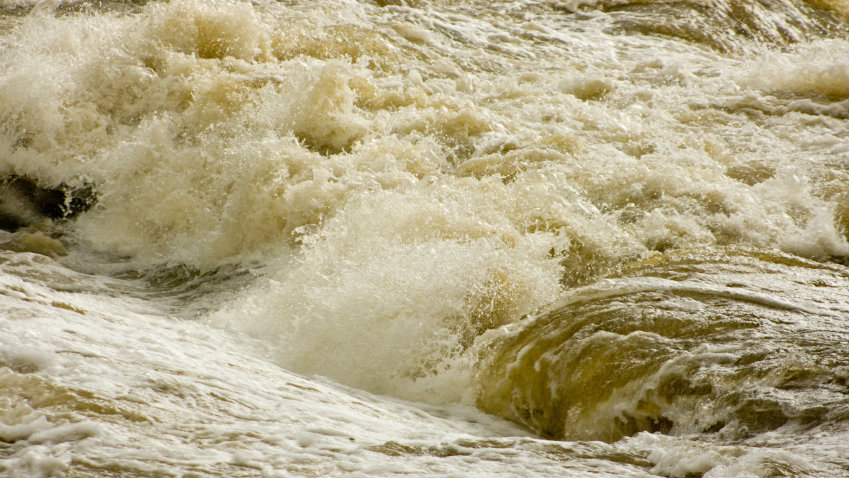 Photo: Flood water rolling (iStock)