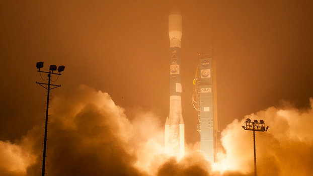 <p>The Orbiting Carbon Observatory-2, NASA's first mission dedicated to studying carbon dioxide in Earth's atmosphere, lifts off from Vandenberg Air Force Base, California, on July 2, 2014. The two-year mission will help scientists unravel key mysteries about carbon dioxide.</p>