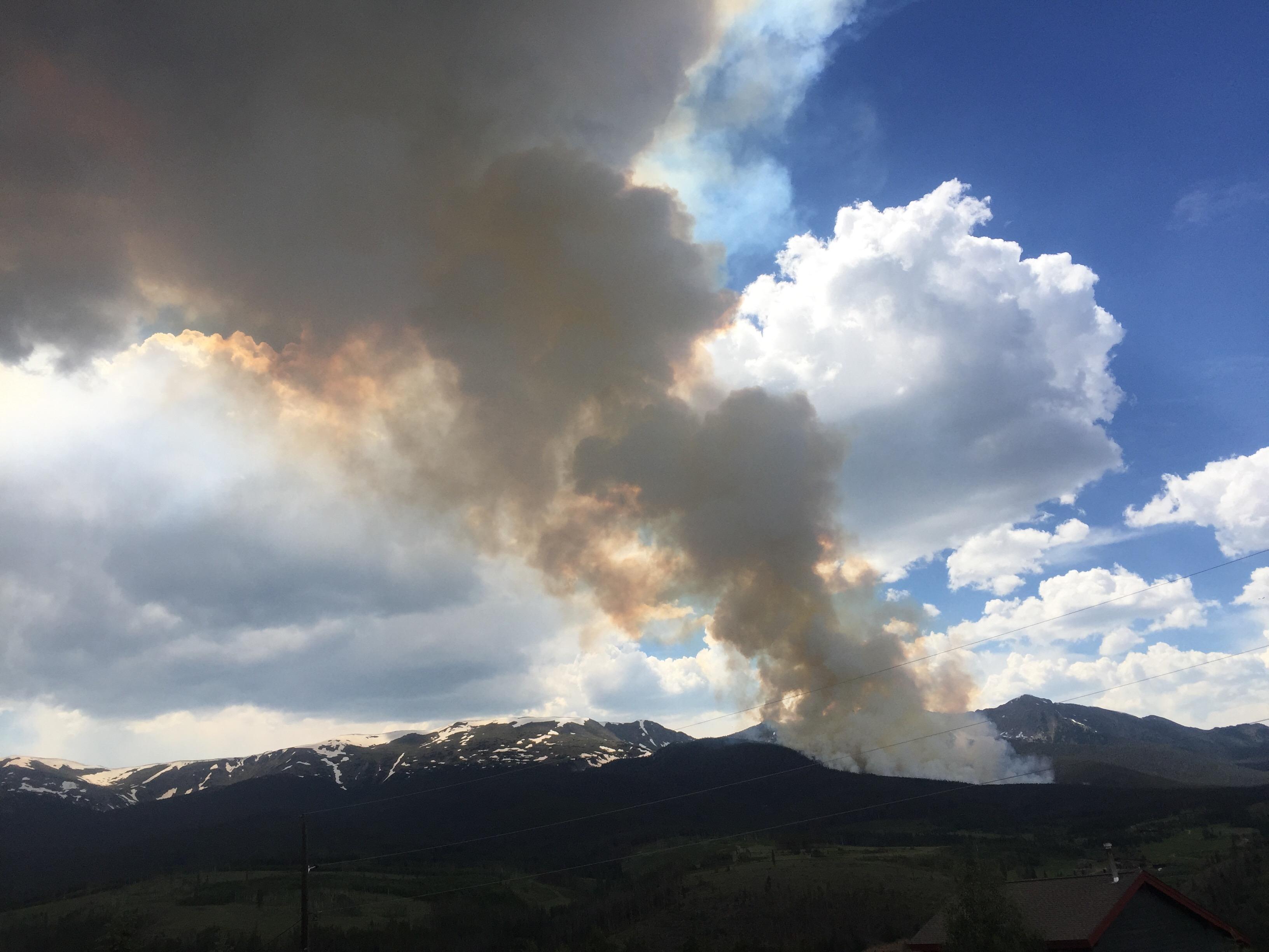 Photo: Breckenridge Wildfire 1 | Peak 2, July 5 - Inciweb