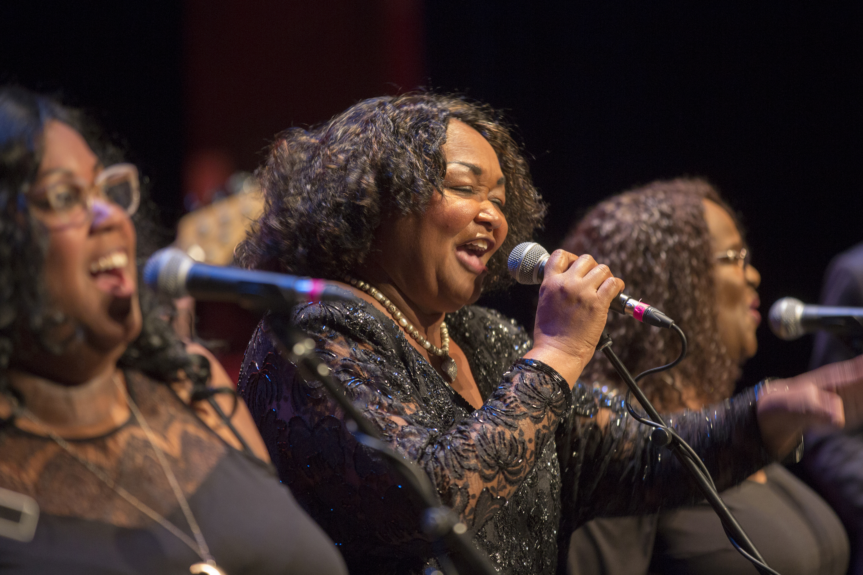 Hazel Miller performs at the third annual Colorado Matters Holiday Extravaganza on Wednesday, Nov. 28, 2018.