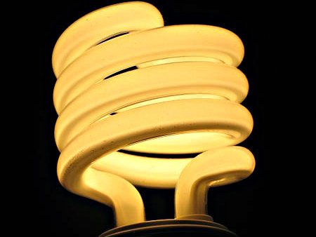 Photo: Compact Flourescent bulb
