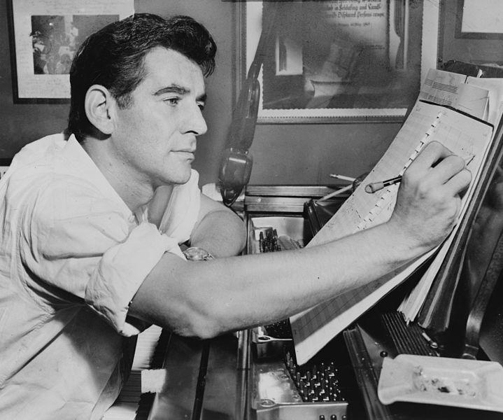 <p>Leonard Bernstein in 1955.</p>