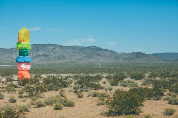 A look at Seven Magic Mountains outside of Las Vegas, Nev.