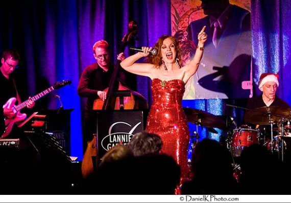 <p>Lannie Garrett performs with her big band show,AnySwing Goes!</p>