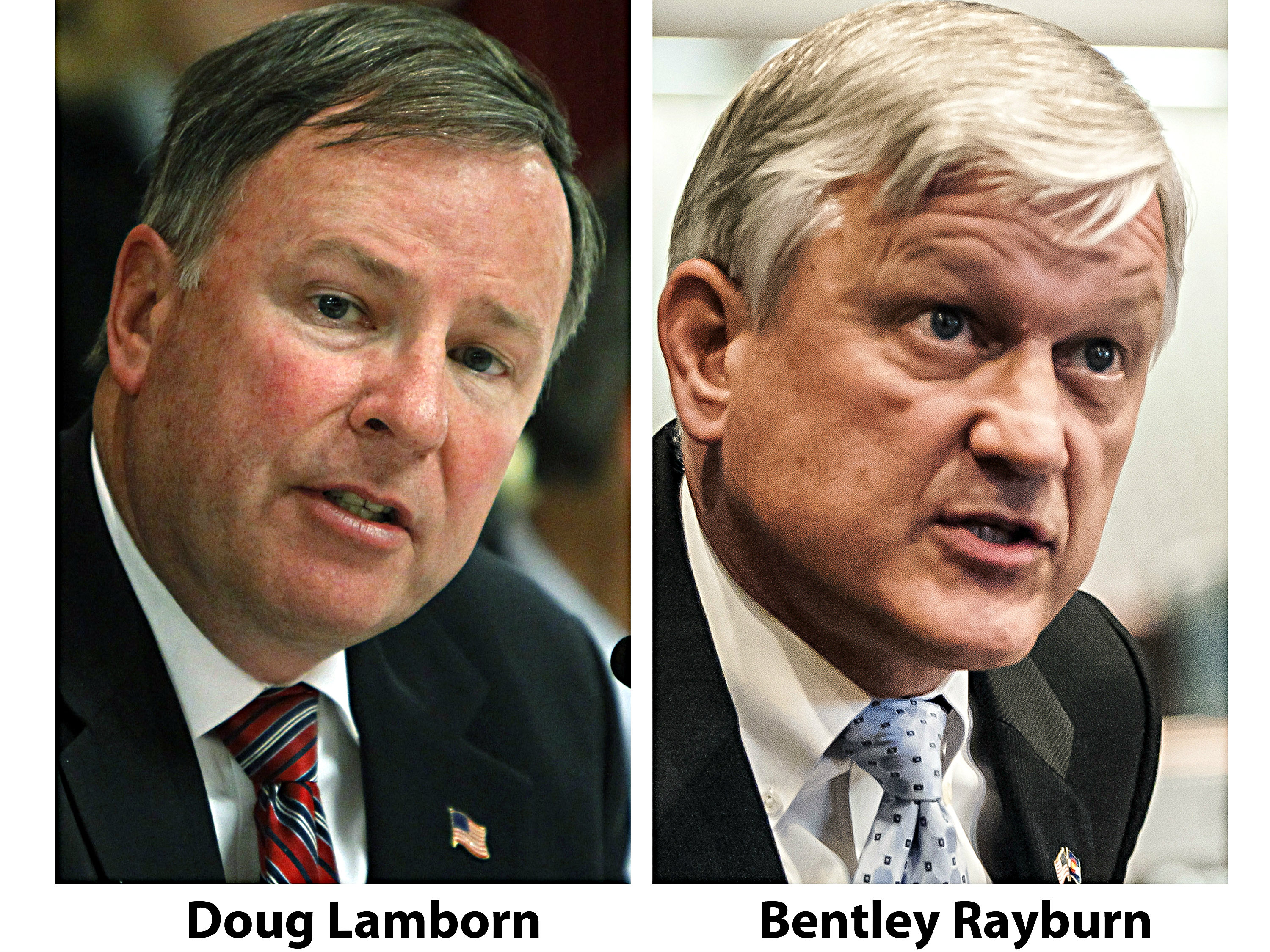 Photo: AP composite of Lamborn and Rayburn