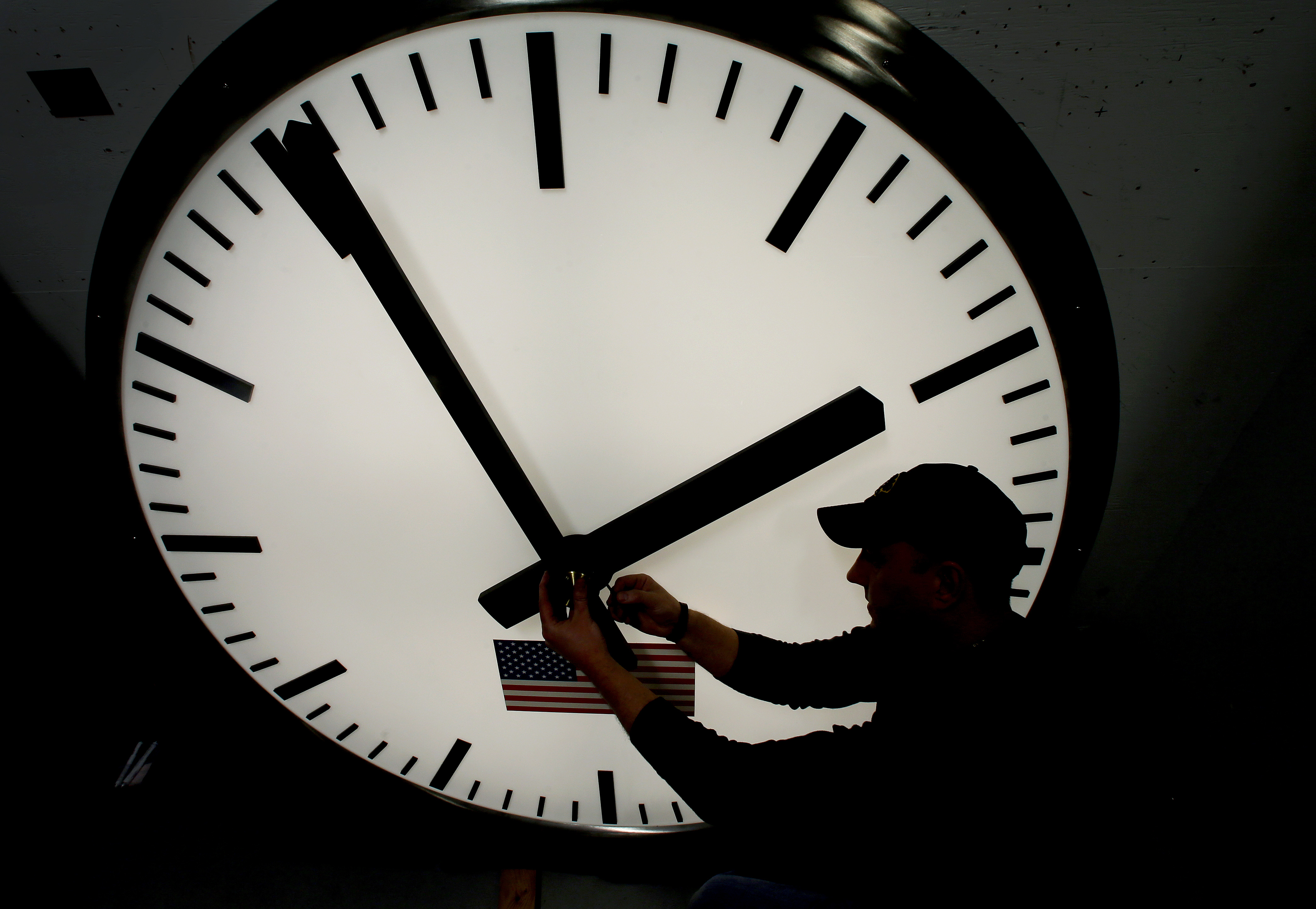 Photo: Clock, daylight savings time